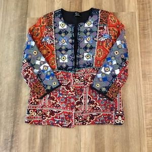 Zara embroidered and beaded jacket